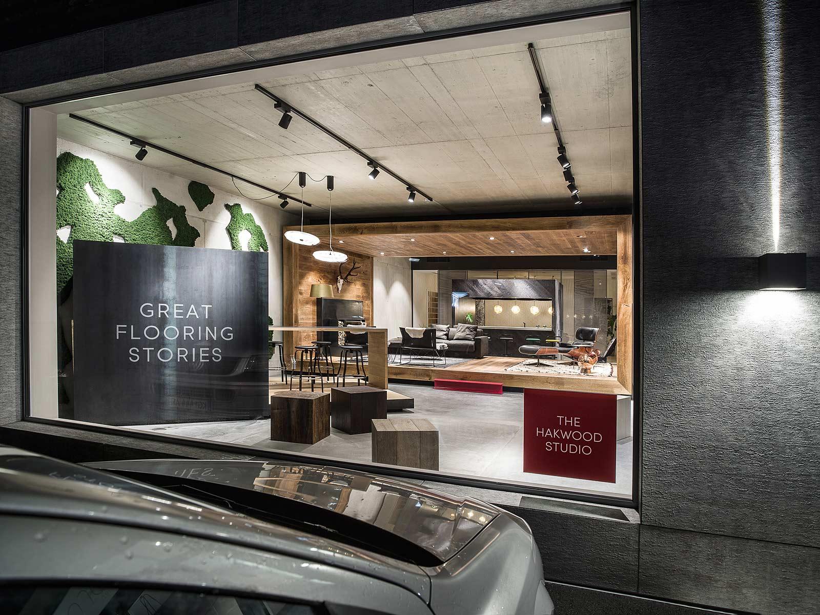 Architekturfotografie Innenraum, der Kitzcorner Showroom in Oberndorf, Interiorfotograf, Architekturfotograf,