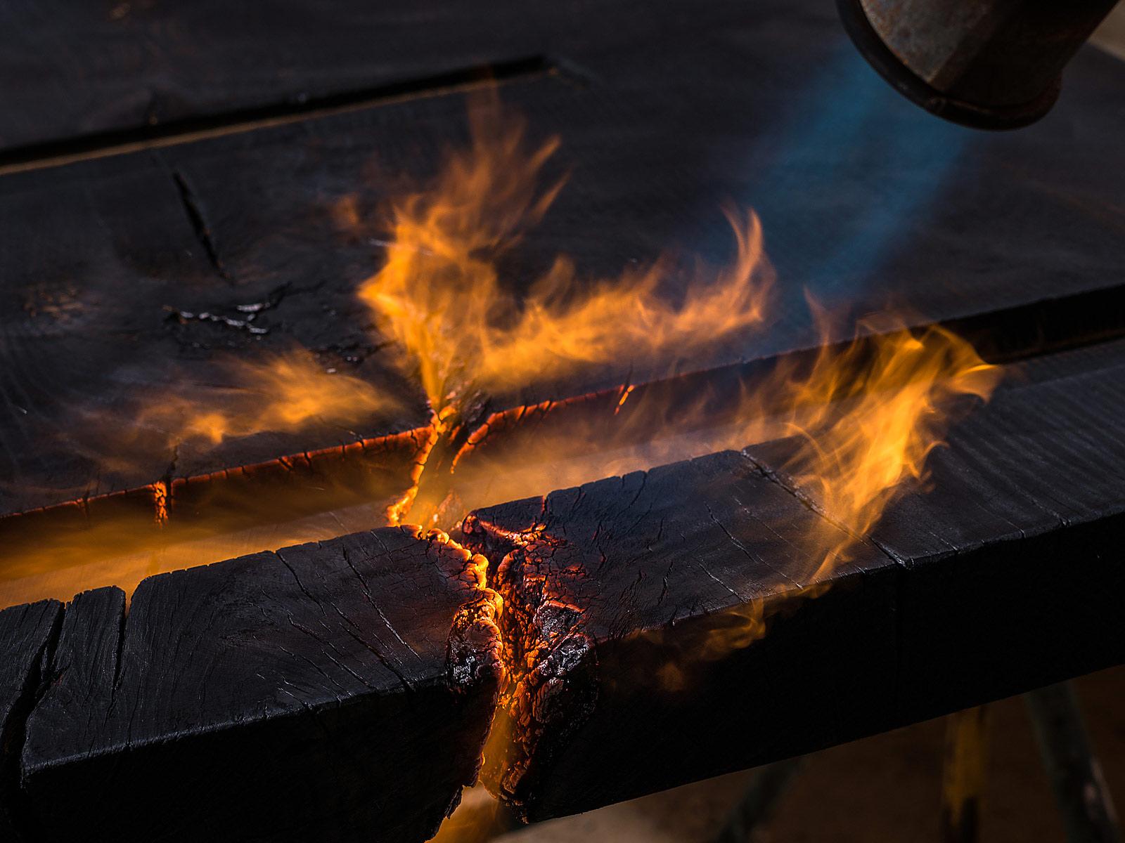 Detailfotografie, Feuer
