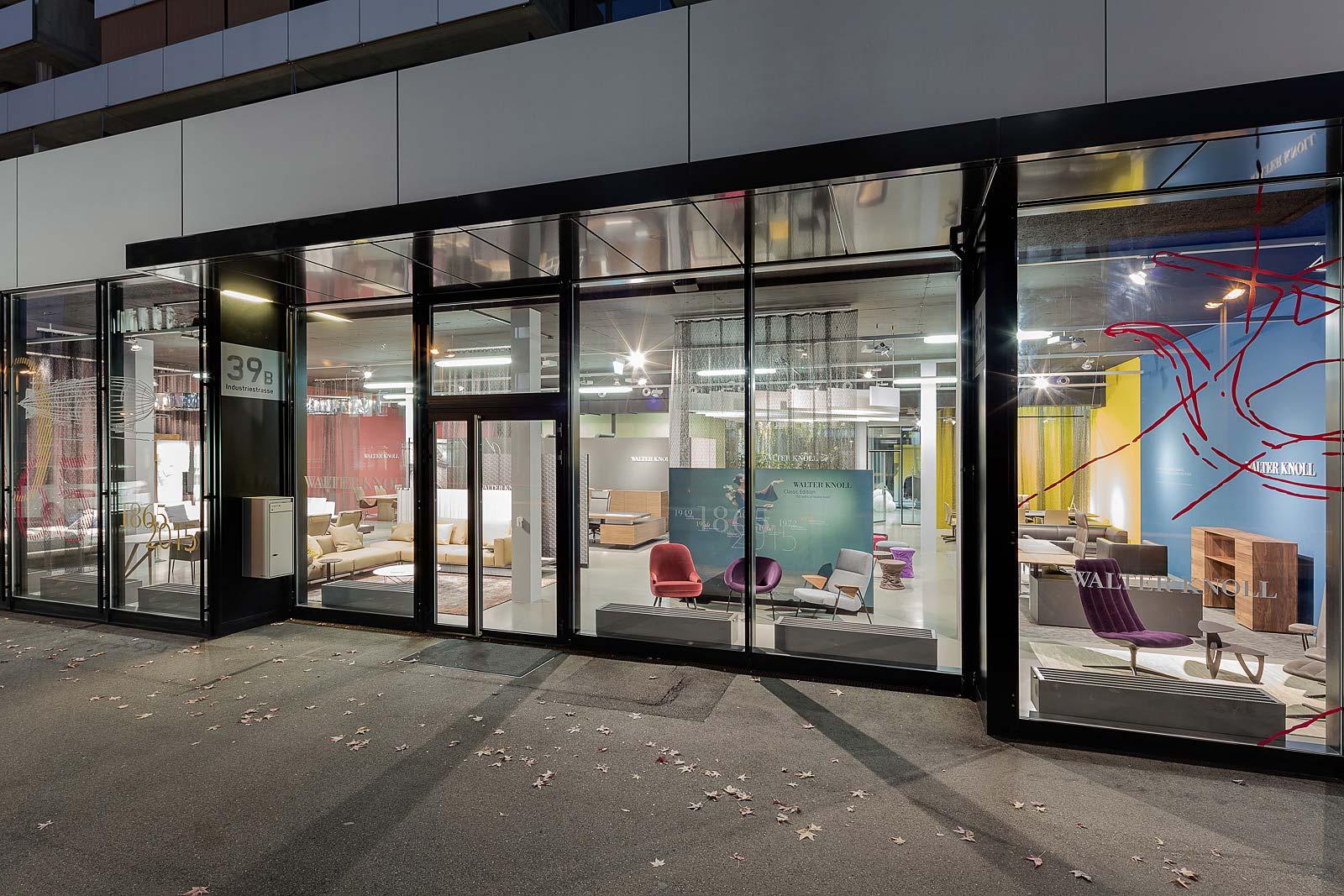 Architekturfotografie Innenraum, Abendaufnahme, Walter Knoll Zürich