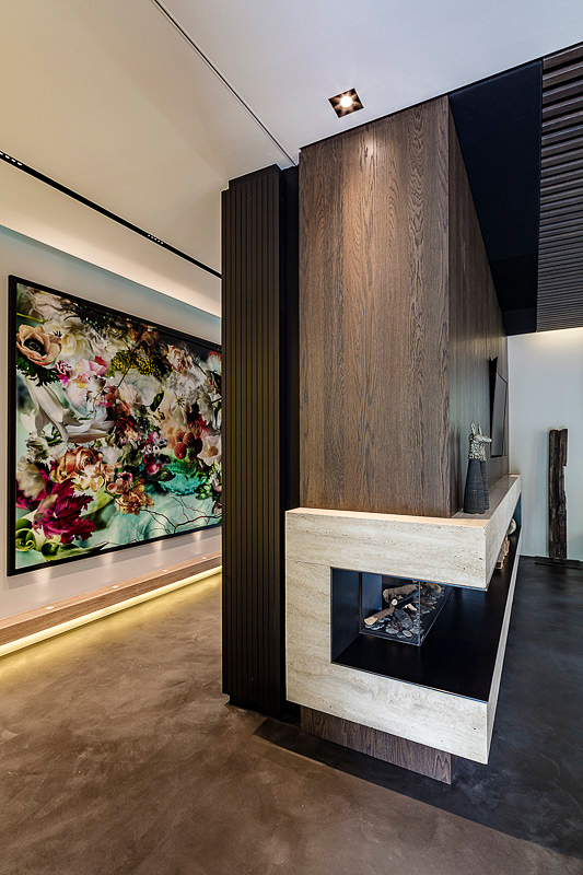 Architekturfotografie Innenraum, Wohnzimmer Kamin, Detailansicht, Interior Fotografie