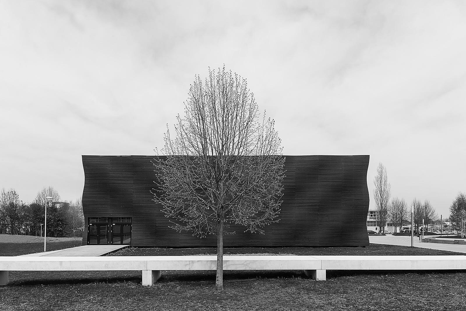 Interims Campus Architekturfotografie in München von Gabriel Büchelmeier, Architektur Fotograf in München