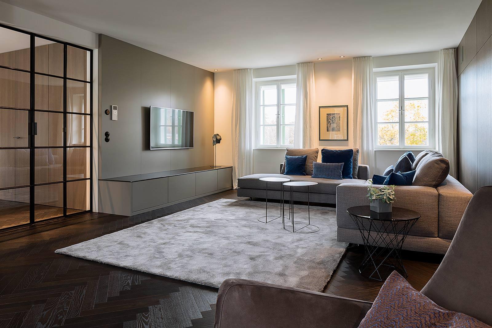 Ein Projekt von Famler Einrichtungen, Interieur Fotografie einer Architekten Wohnung, Architekturfotograf aus München,