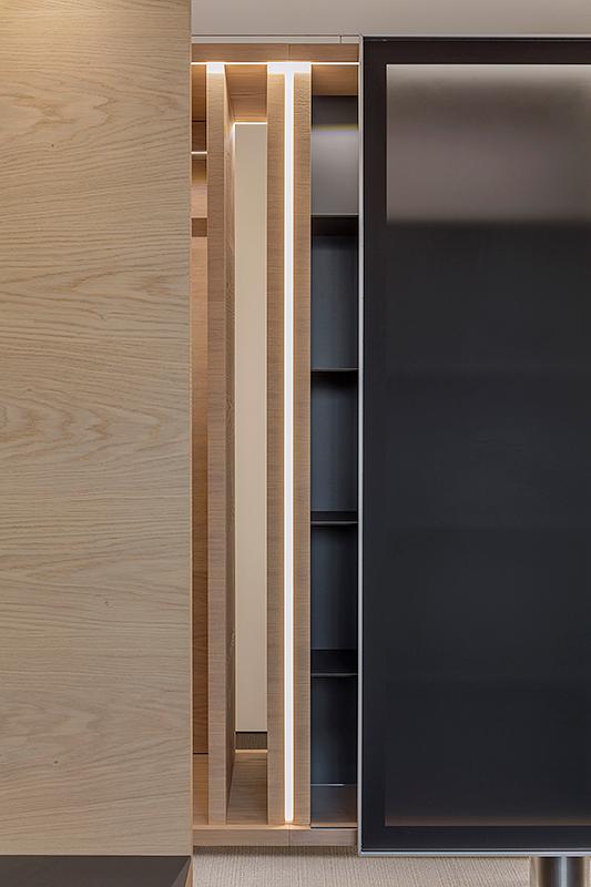 Architektur Detail, Innenaufnahme mit Schiebetüre