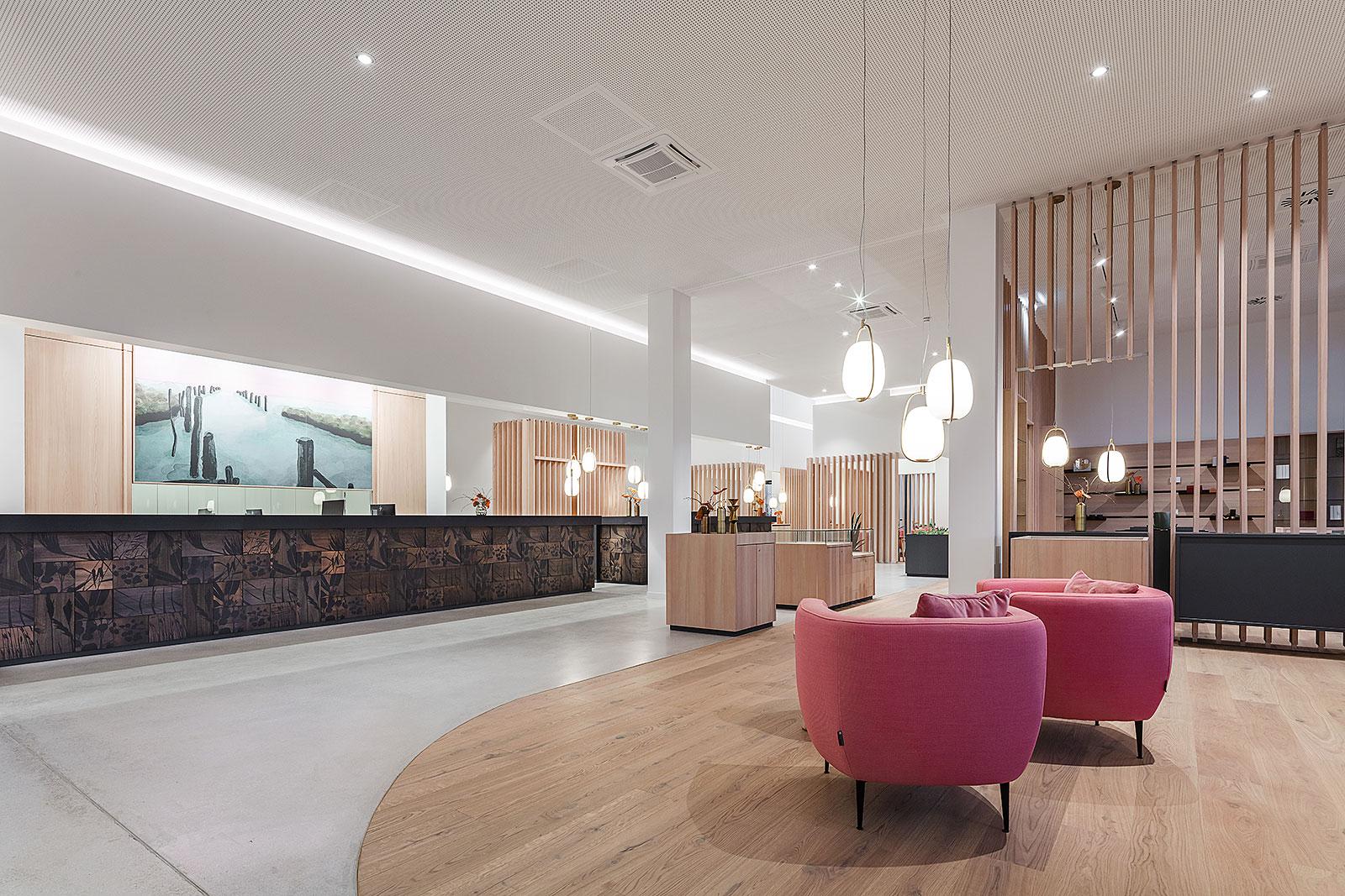 Weitwinkelaufnahme Architekturfotografie Lobby Hotel