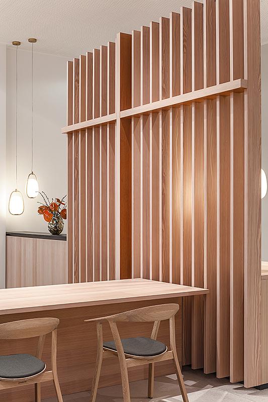 Detailfotografie Architektur mit Holz