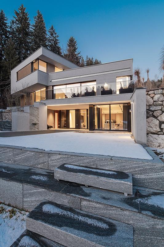 Abendaufnahme Architektur Privathaus