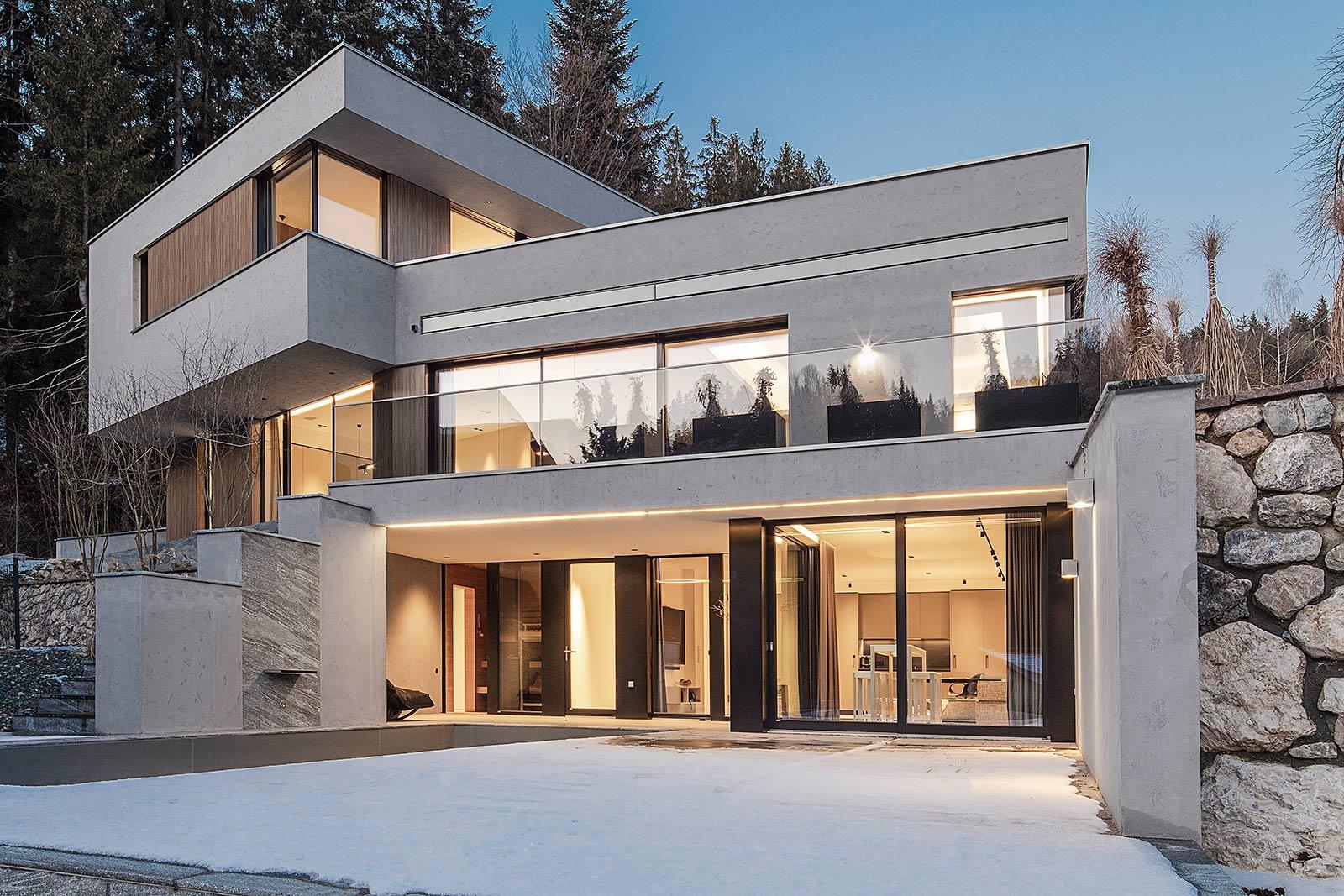 blaue Stunde Architektur Fotografie Häuser