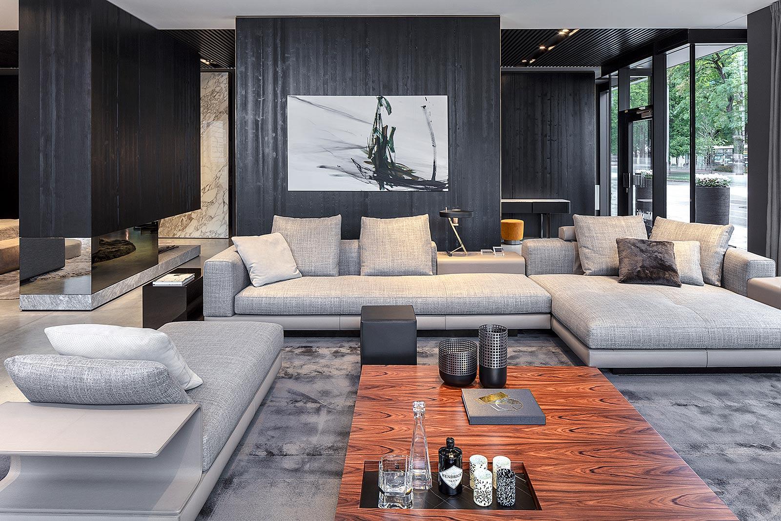 Minotti Kollektion 2020, Store Interior Fotografie