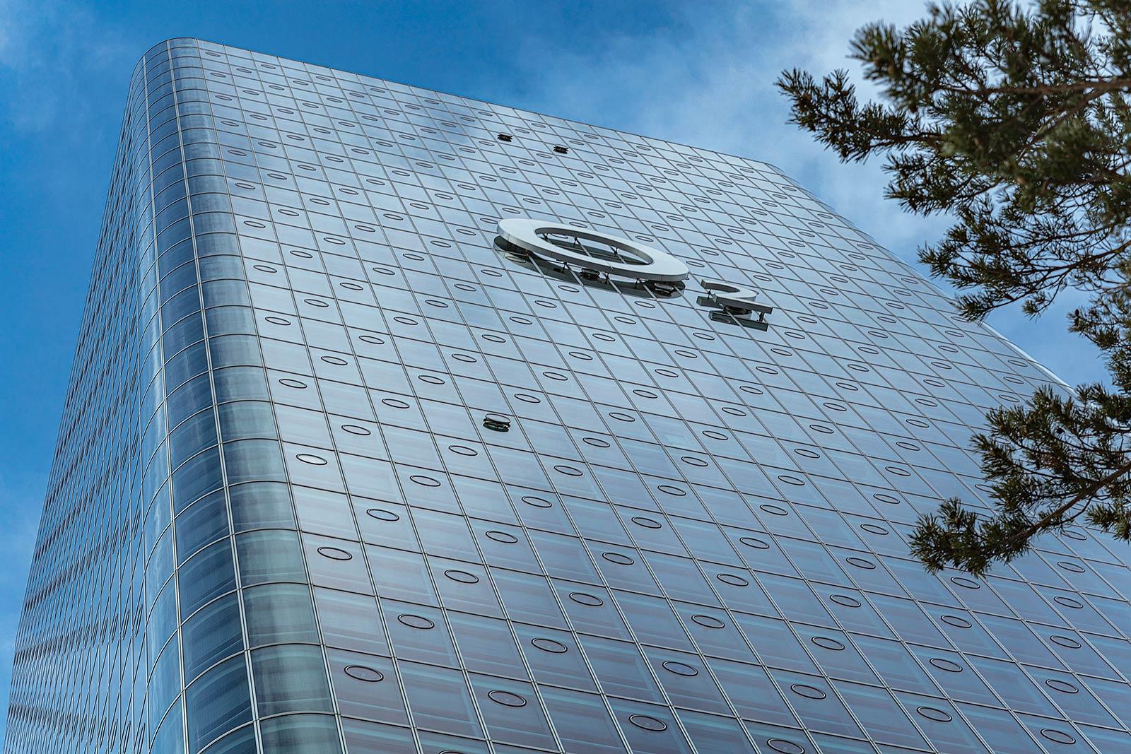 O2 Tower in München, Architekturfoto