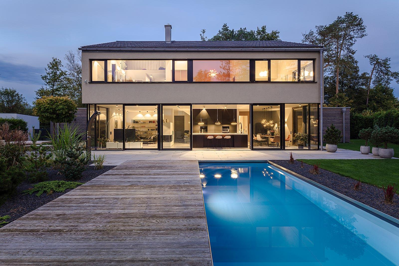 Architekturfoto Abendaufnahme in München